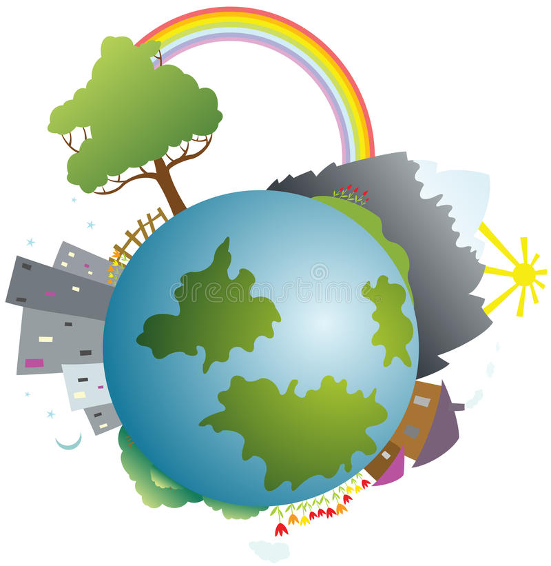 Download Colored Little Planet Earth Stock Vector - Illustration of planet, isolated: 13193039