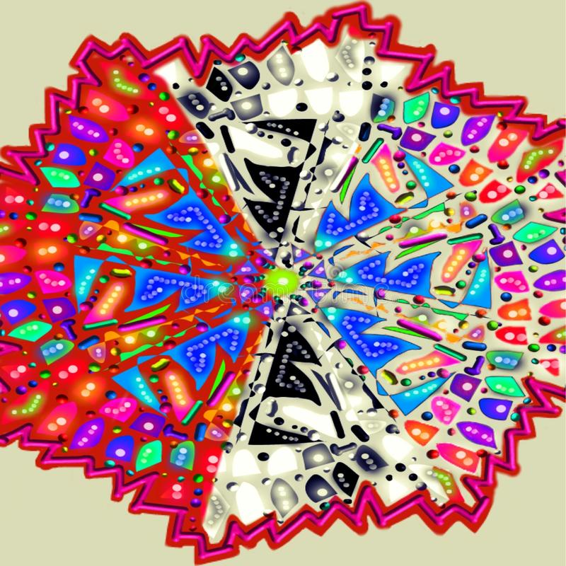 Colored 1. A Colored mandala
