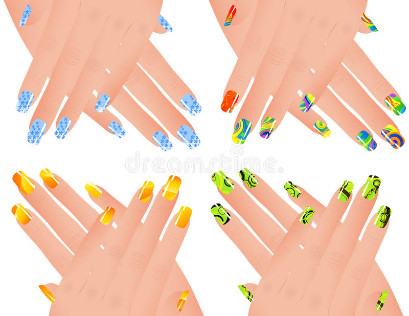 Download Colored Manicure Royalty Free Stock Photo - Image: 13510285