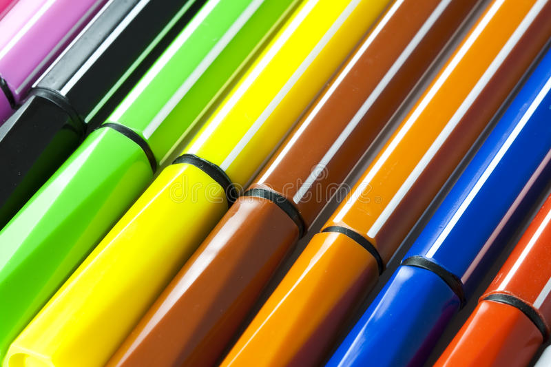 Download Colored marker pens stock photo. Image of background - 15034352