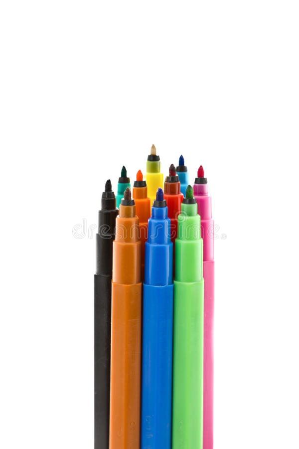 Colored markers stock images
