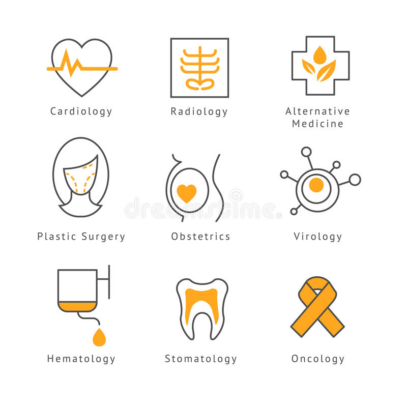 Colored Medical Health Care Icons vector illustration