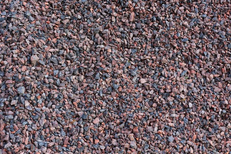 The colored building gravel. The colored medium building gravel royalty free stock photos