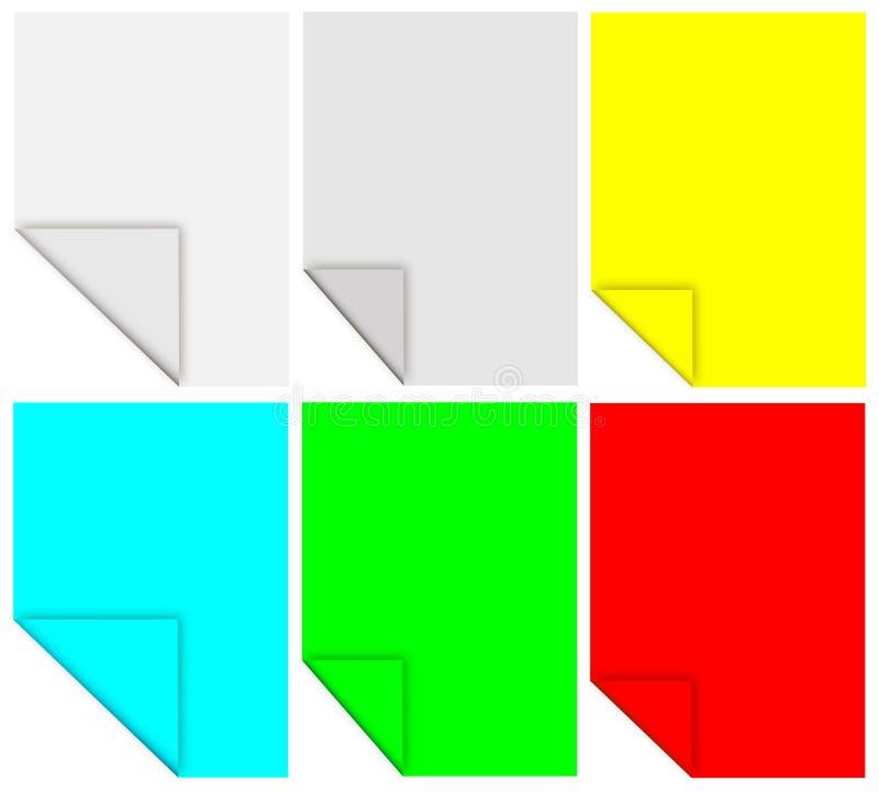 Colored memos stock image