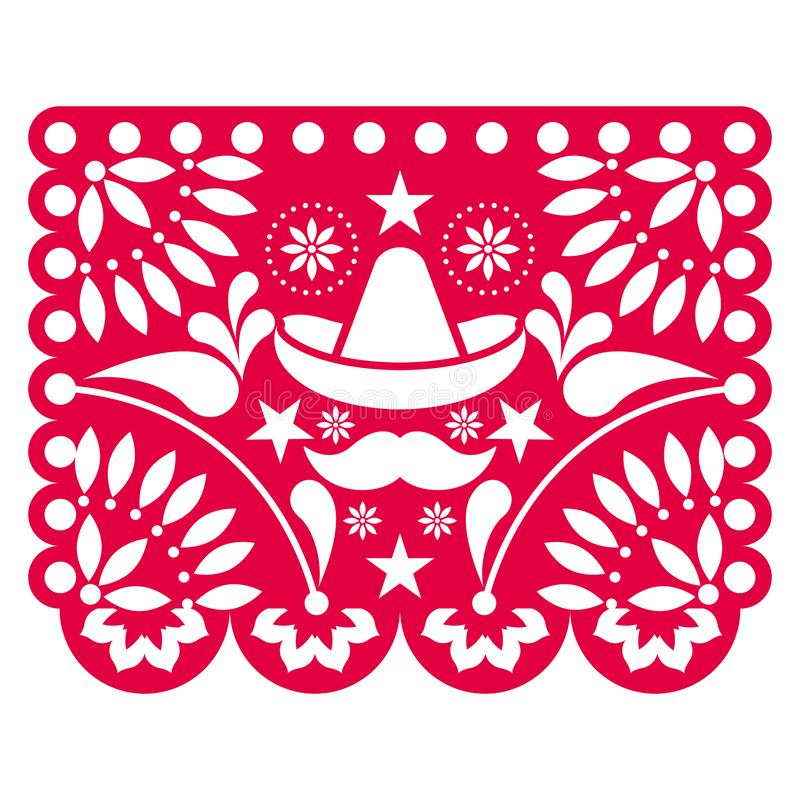 Colored mexican ornament. Floral pattern - Vector illustration vector illustration