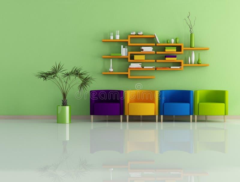 Colored modern interior vector illustration
