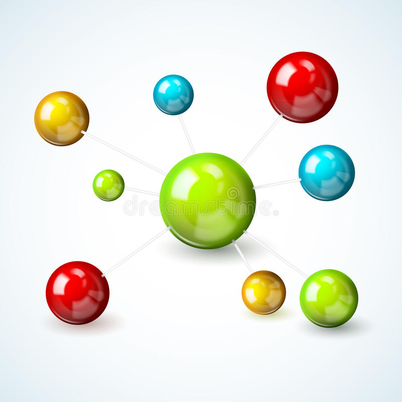 Download Colored Molecule Model Concept Stock Vector - Illustration of atom, biochemistry: 39503084