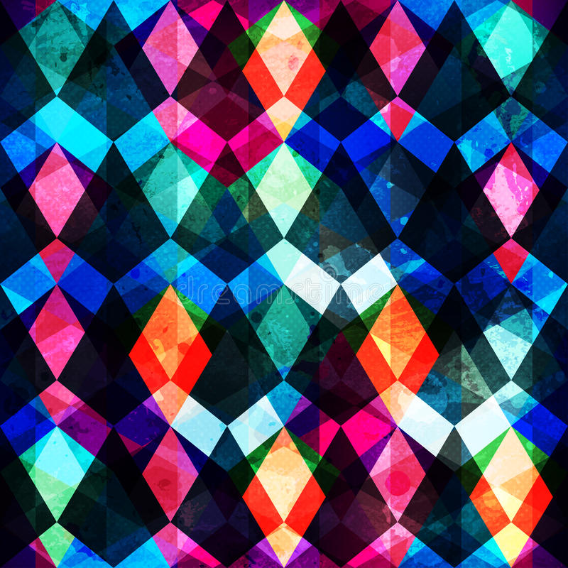 Colored mosaic seamles pattern royalty free illustration
