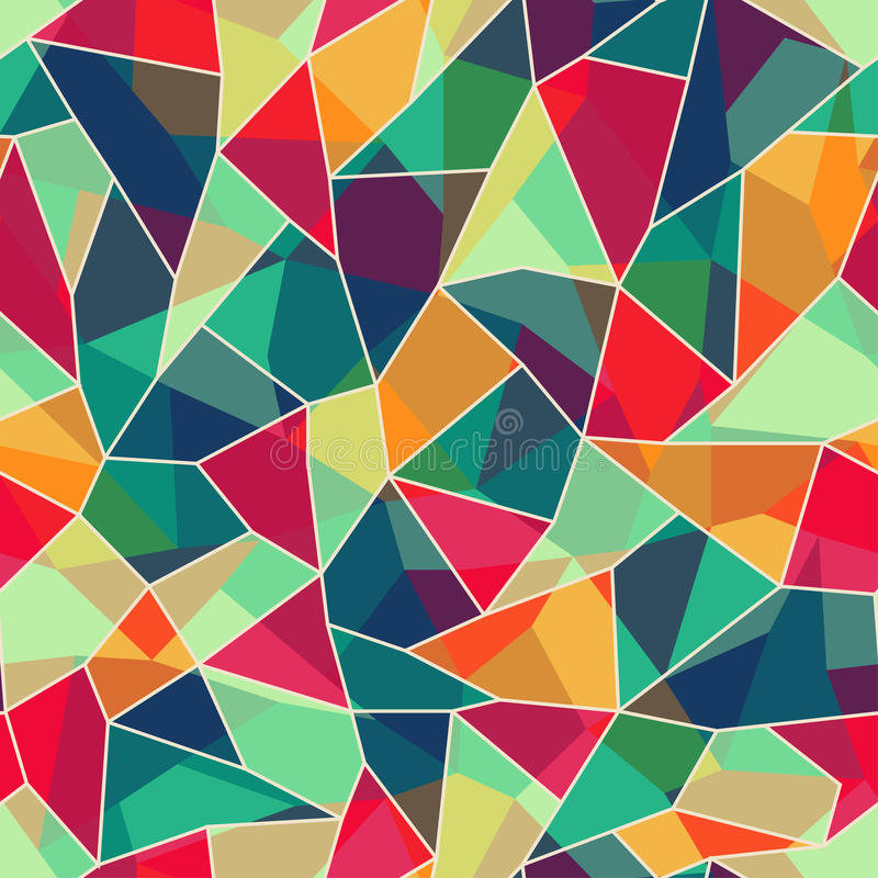 Colored mosaic seamless pattern vector illustration
