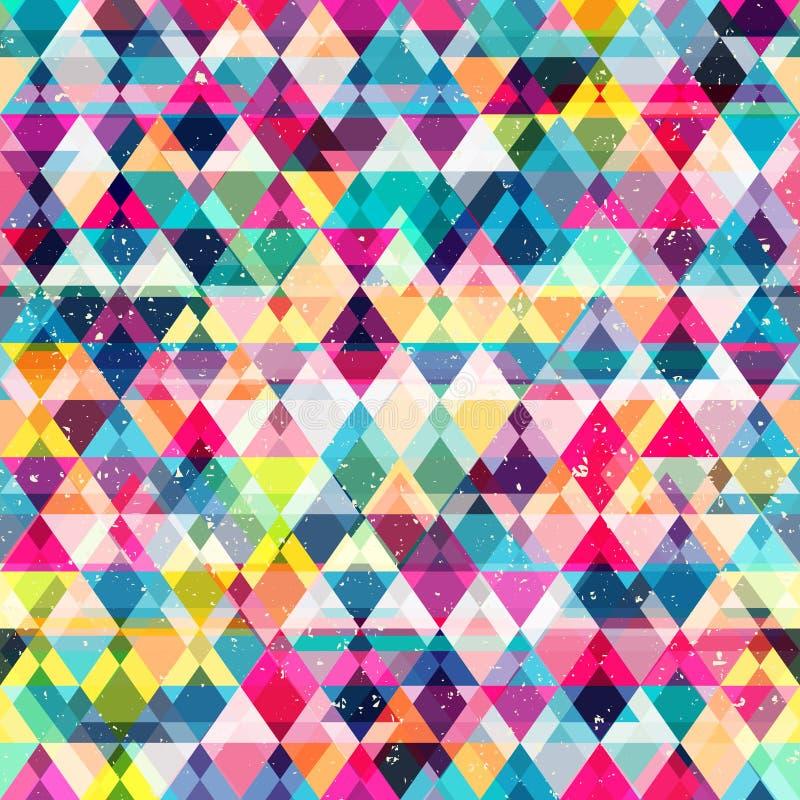 Colored mosaic seamless pattern royalty free illustration