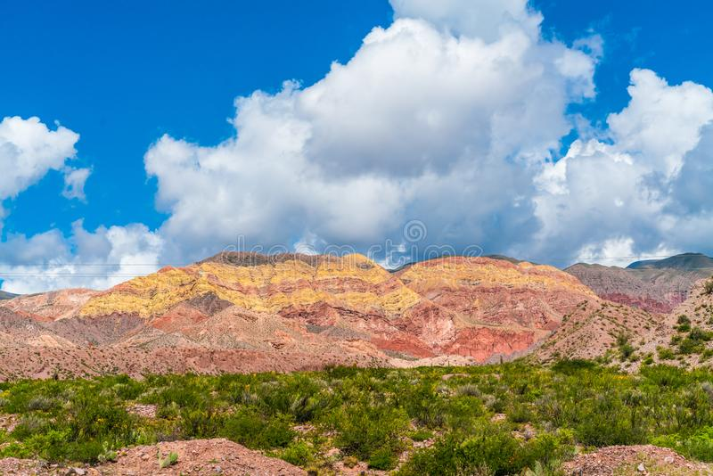 Colored mountains near Humahuaca, Salta in Argentina royalty free stock photos