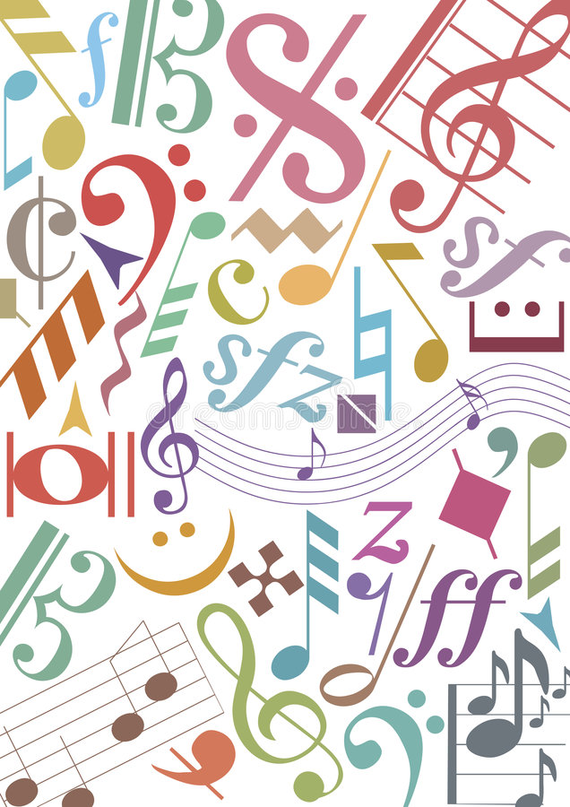 Download Colored music notes stock vector. Image of house, color - 5445135