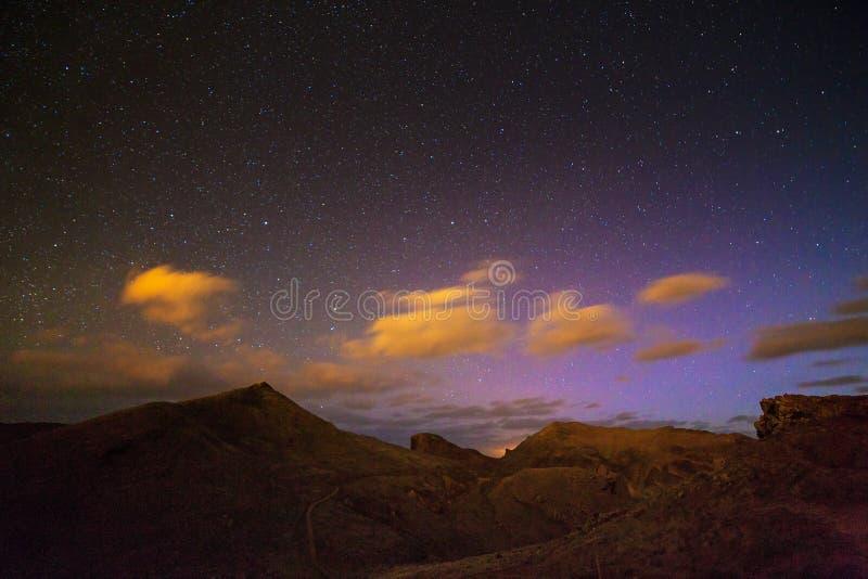 Colored nights Madeira stock photo