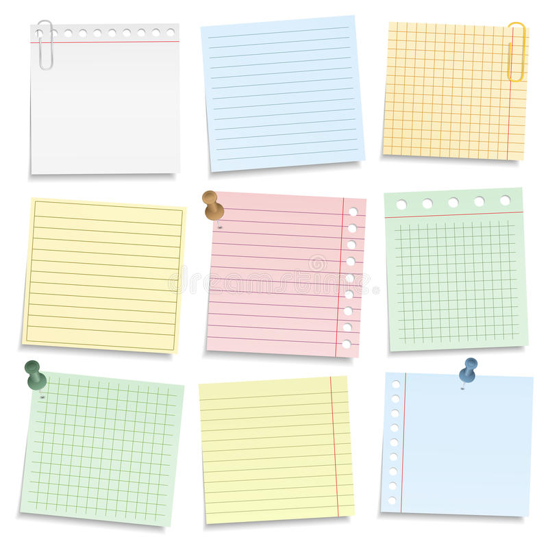 Free Colored Notebook Paper Royalty Free Stock Image - 46413916