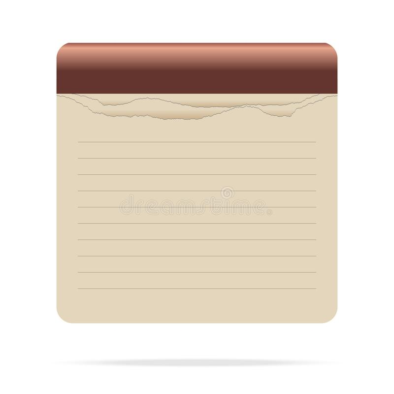 Colored notepad icon on white background vector illustration