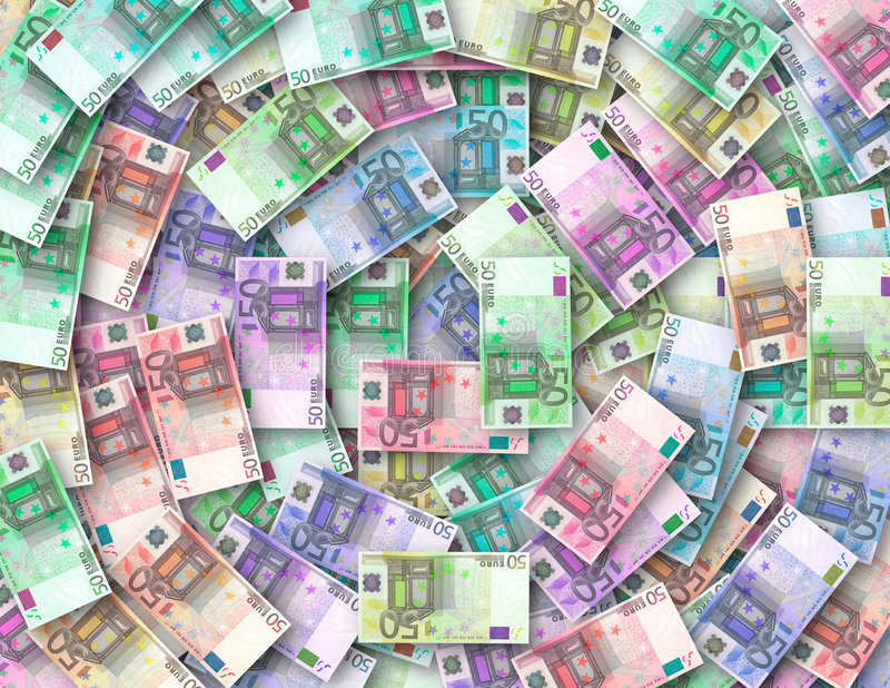 Download Colored Notes Of 50 Euro Royalty Free Stock Photography - Image: 1407157