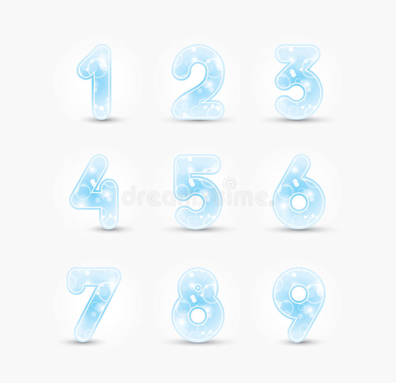 Download Colored numbers design stock vector. Image of colorful - 27780757