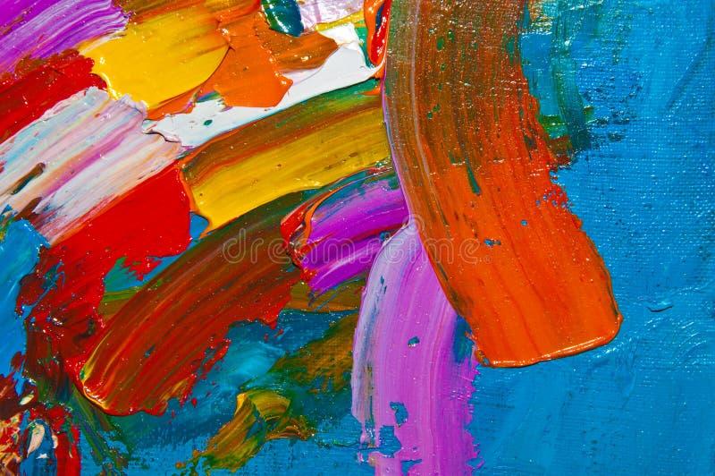 Colored Oil Canvas stock image