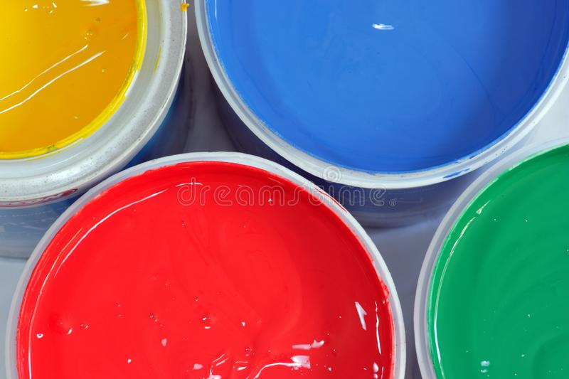 Colored paints 2 royalty free stock image