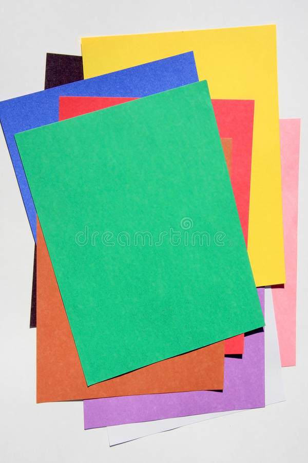 Colored paper background stock photos
