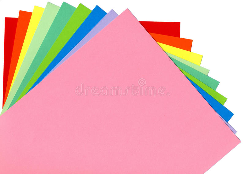 Download Colored paper stock image. Image of colorful, rainbow - 30867013