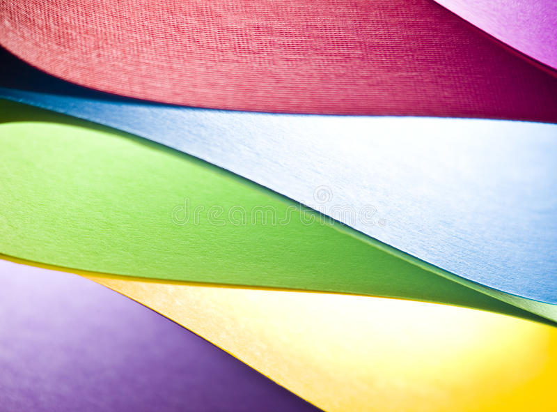 Colored paper background shapes royalty free stock photography