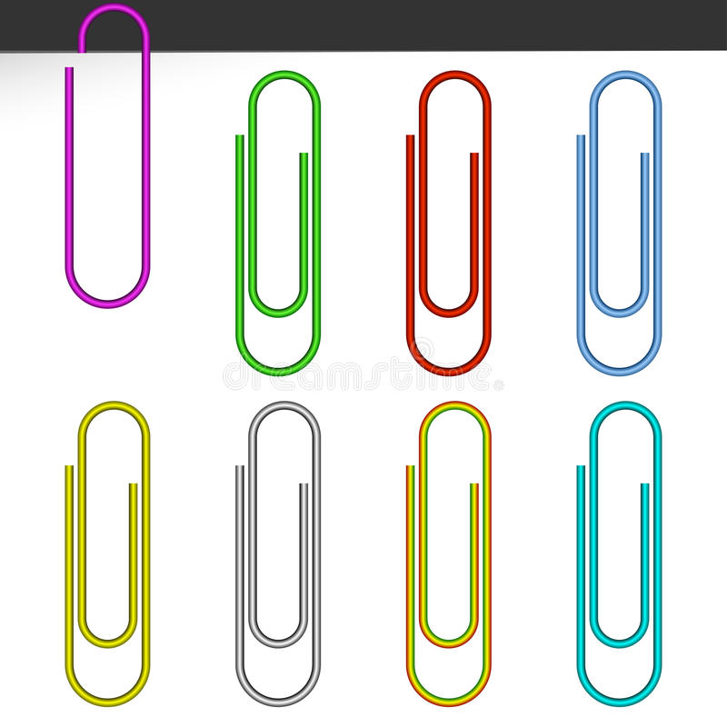 Free Colored Paper Clips. Royalty Free Stock Photos - 19862868