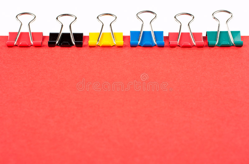 Download Colored Paper Clips Lined Up Stock Photography - Image: 1724862