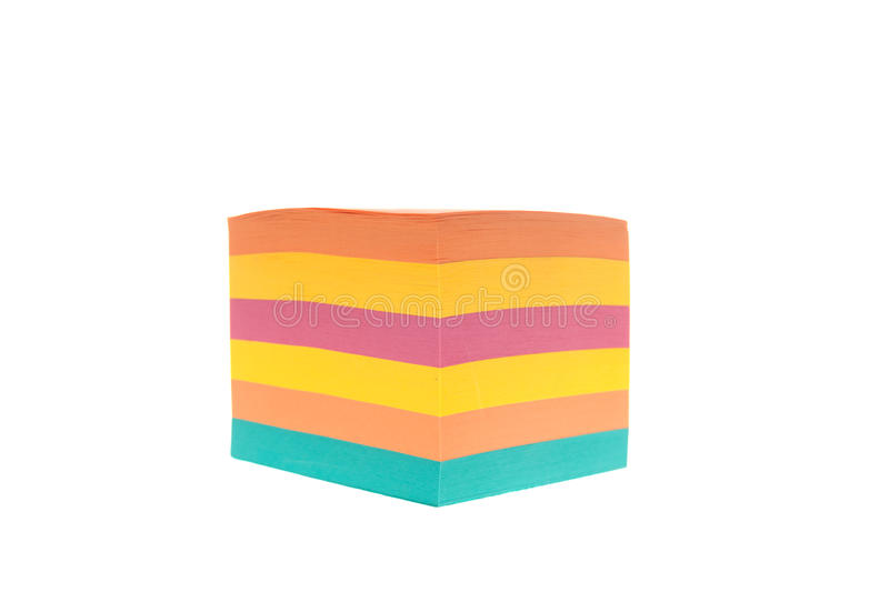 Colored paper cube for notes royalty free stock images