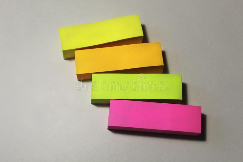 Colored paper for notes. stock photography