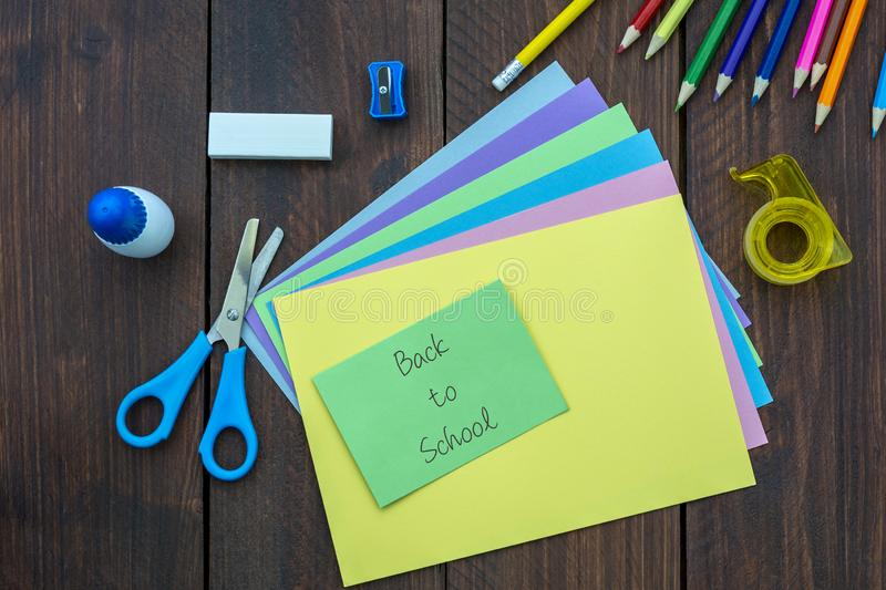 Materials for crafts. Back to School Concept royalty free stock image