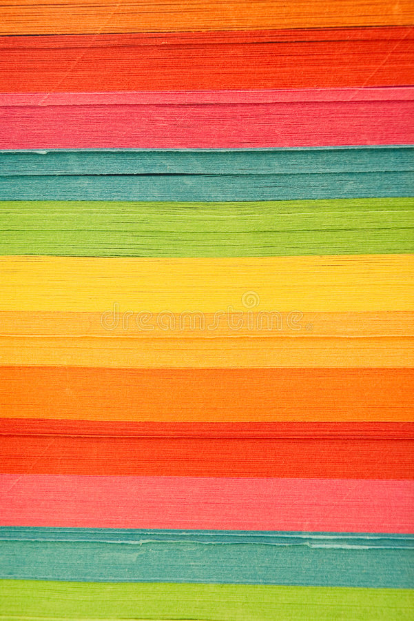 Colored paper stack royalty free stock photography