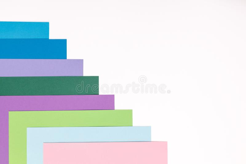 Colored paper texture minimalism background. geometric shapes and lines stock photography