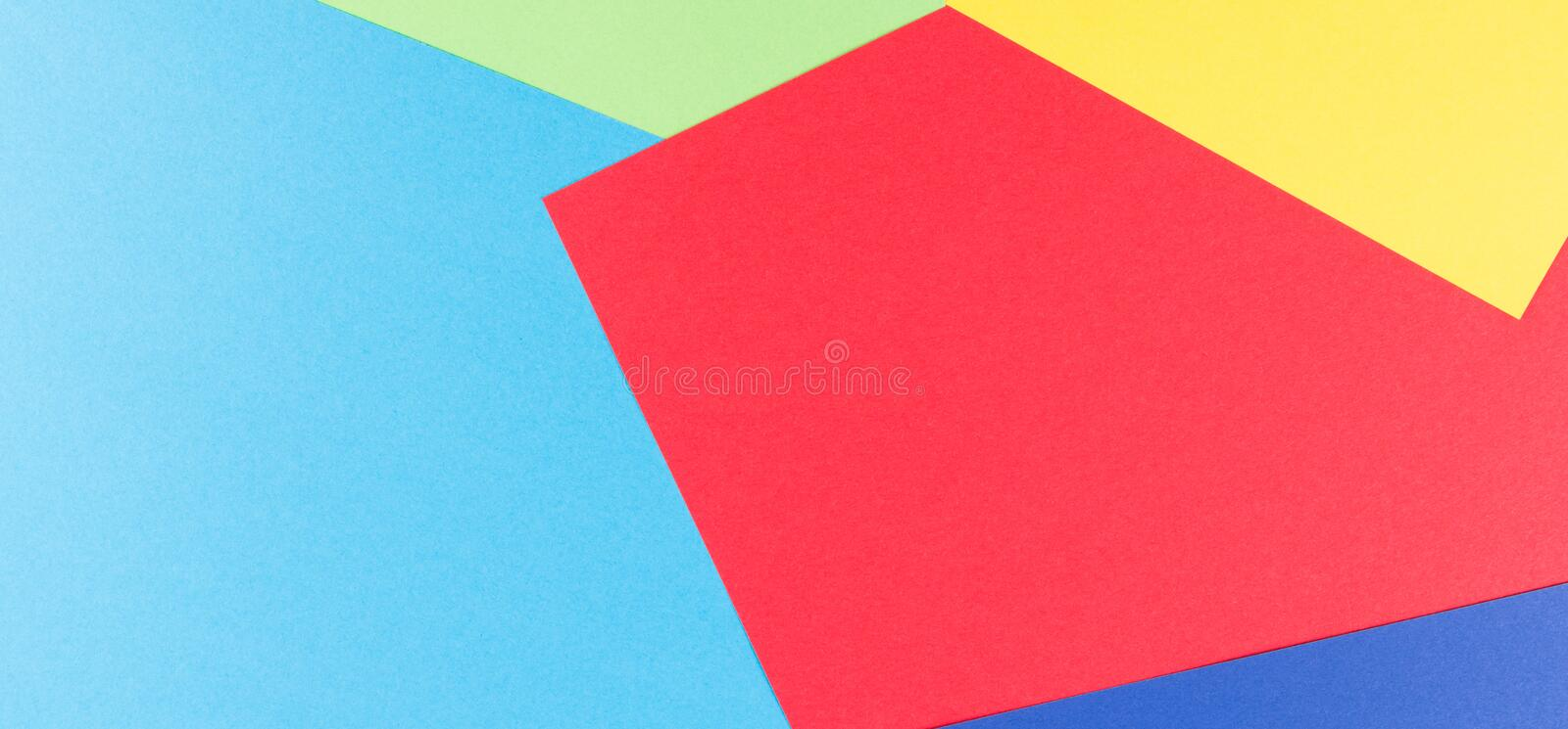 Color Papers Geometry Flat Composition Background With Yellow, Green ...