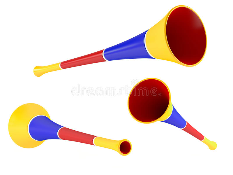 Download Colored Party Horn. Multiple Angles Of View Stock Illustration - Image: 36296182