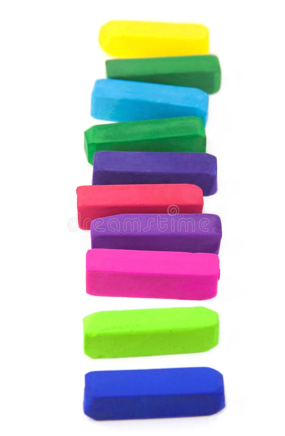 Colored pastel crayons royalty free stock images