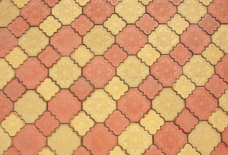 Colored pavement pattern stock image