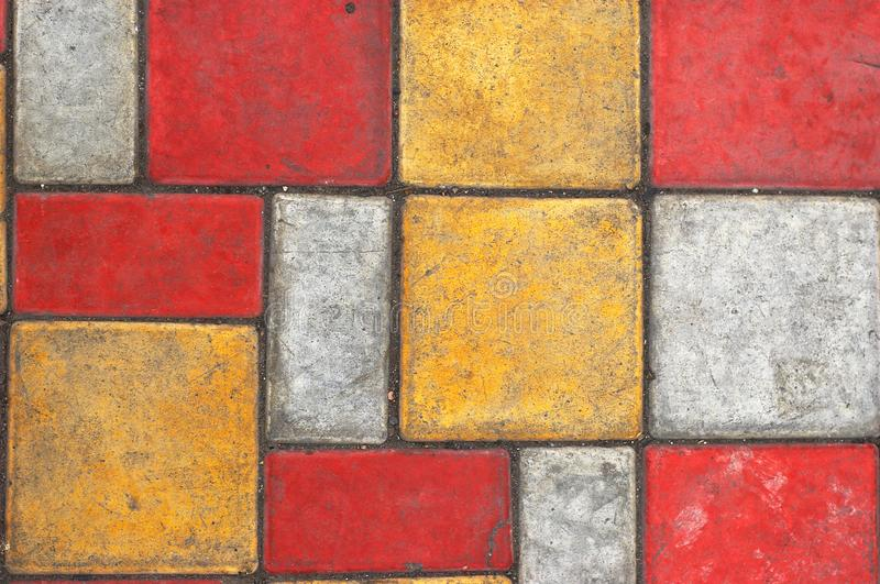 Colored paving slab texture #2 stock photos