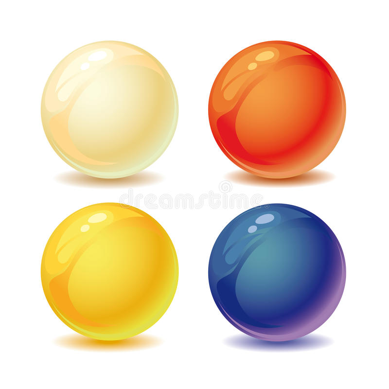 Colored Pearls Royalty Free Stock Photos
