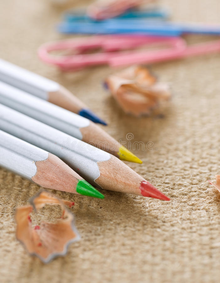 Download Colored Pencil stock photo. Image of brown, colors, creativity - 15386392