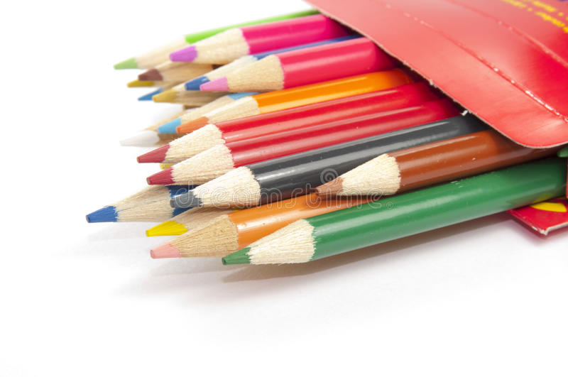 Colored Pencil In Box Stock Photography