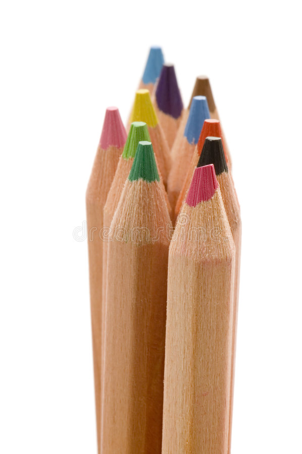 Colored pencil closeup royalty free stock photography