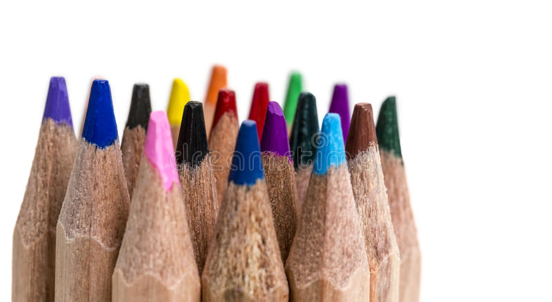 Colored Pencil Tips stock photo