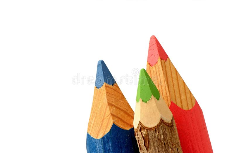 Colored pencil tips royalty free stock image