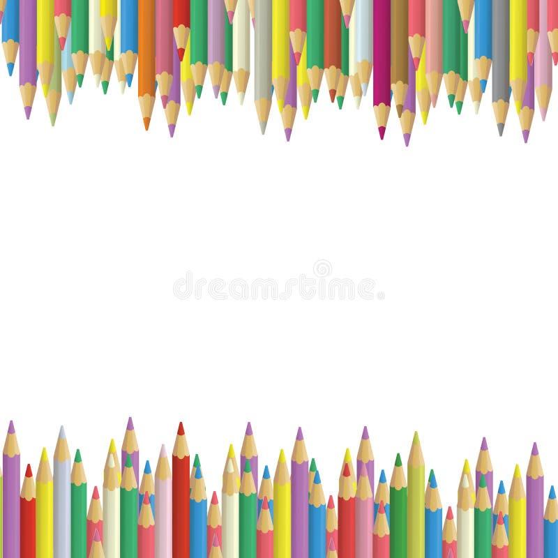 Download Colored pencils stock illustration. Illustration of blue - 13638116