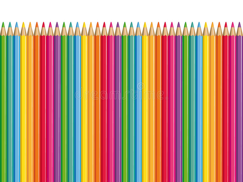 Download Colored pencils. stock vector. Image of craft, back, draw - 14557938