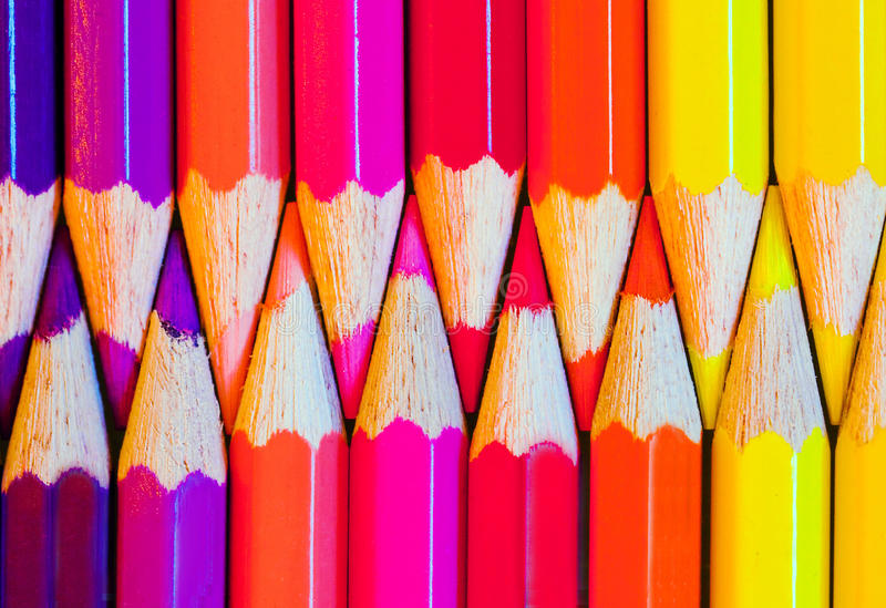 Download Colored pencils stock photo. Image of aligned, writing - 15848798