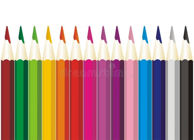 Download Colored pencils stock illustration. Image of illustration - 23096887