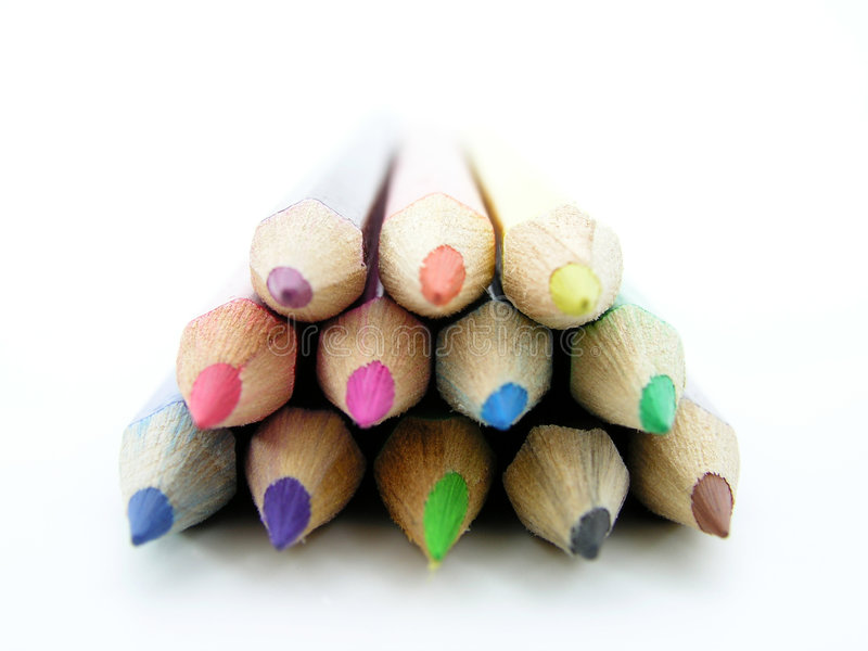 Colored Pencils. Isolated stock photos