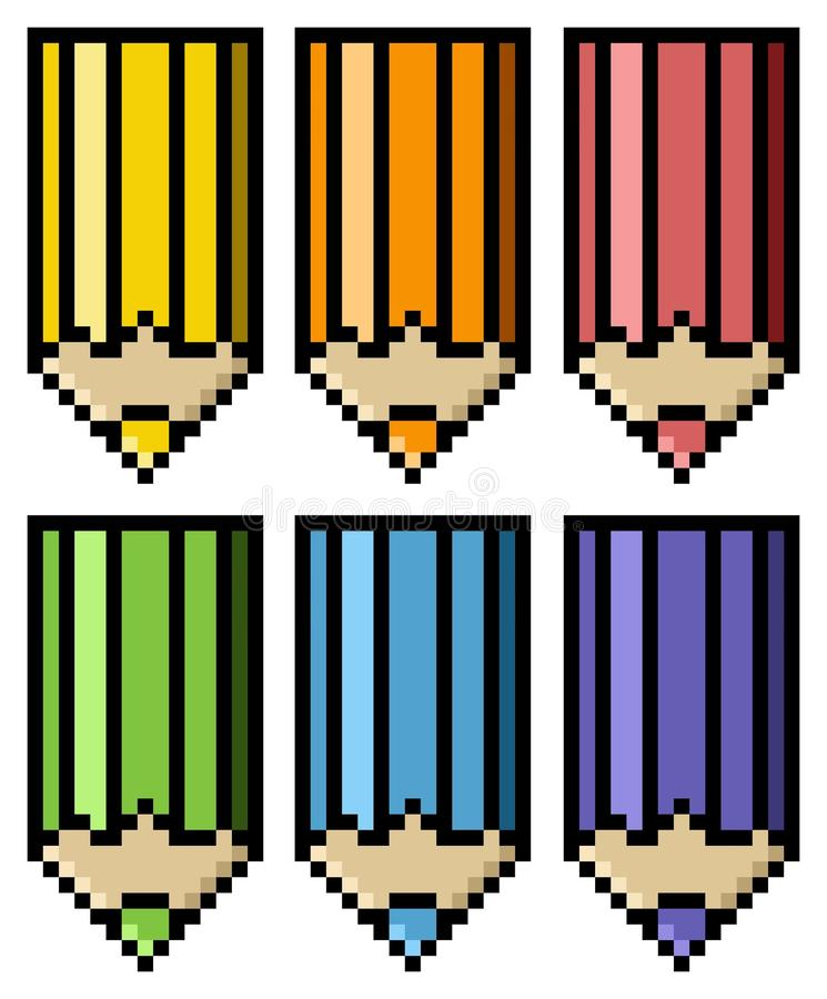 Download Colored pencils stock illustration. Image of pencil, icon - 27897084